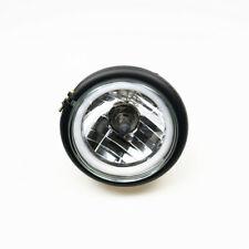 High/Low Beam Retro Cafe Racer Side Mount Headlight Lamp For Harley Honda Suzuki