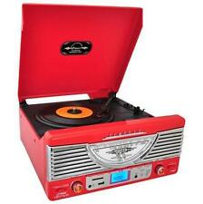 Pyle PTR8UR Retro Turntable / USB SD AM/FM Player AUX for iPod/MP3/ USB Transfer