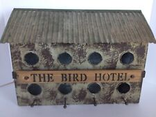 Vintage Farmhouse Bird Hotel Chicken Coup Feeder Wood Metal & Decorative Piece