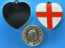 Expressions Engravers Enamelled St.Georges Heart Shape pet/dog tag