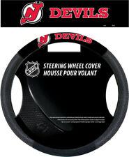 New Jersey Devils Steering Wheel Cover NHL Hockey Team Logo Poly Mesh