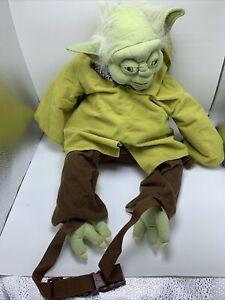 """Star Wars Yoda Backpack Plush 24"""" Bag Lucasfilm 2010 W/ Tag"""