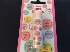 BNIP New Sealed Love Hearts Lip Balm - Raspberry Flavour
