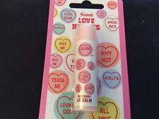 BNIP New Sealed Love Hearts Lip Balm - Raspberry Flavour