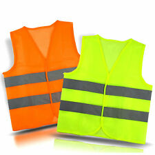 Neon Security Safety Vest w/ High Visibility Reflective Stripes Orange & Yellow*
