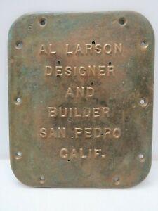 Bronze Boat Builders Plaque Sign - (B5C2895)
