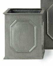 Capital Garden Products Stuart Fiberglass Planter Box, Grey - 36H x 30W x 30cmD