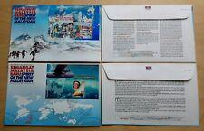 2000 Malaysia Millennium, Mt Everest, World Sailing, Maps 2 MS on 2 FDC (Melaka)