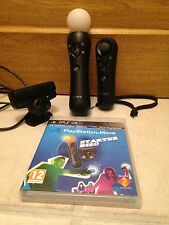 SONY PS3 MOVE MOTION & NAVIGATION CONTROLLER, EYE CAMERA& Starter Disc.