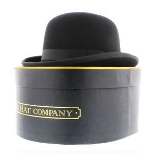Whiteley Quality Black 100% Wool Traditional Bowler Hat With Or Without Box