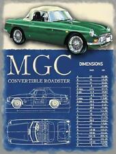 MGC Cabrio Roadster Klassisch Britischer Sportwagen Klein Metall/Zinn-zeichen