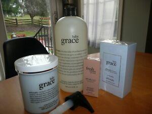 Philosophy BABY GRACE Shampoo Shower Gel 32 oz Whipped Body Creme 16 oz perfume