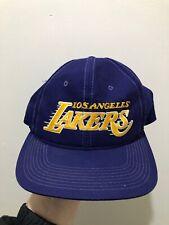Vintage Los Angeles Lakers Sports Specialties Motion Script Snapback Hat Cap NBA