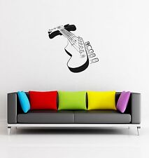 Wall Decal Electric Guitar Music Rock Strings Deck Mural Vinyl Stickers (ed022)
