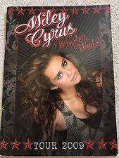 MILEY CYRUS WONDER WORLD TOUR 2009 PROGRAMME SOUVENIR BROCHURE MUSIC CONCERT