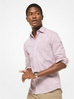 Michael Kors Men's Button Down Shirt Trim Stretch 2XL XXL Floral MSRP $89 A1918