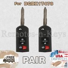 2x Car Transmitter Alarm Remote Control for 2010 2011 2012 2013 Mazda 3 4btn