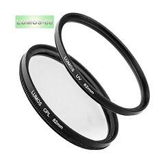 62mm UV Schutz-Filter & Polfilter zirkular Kamera Objektiv Zubehör Set Ø62 mm