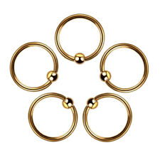 Helix Tragus Cartilage Earring Navel 6mm Gold Stainless Steel Nose Rings Women