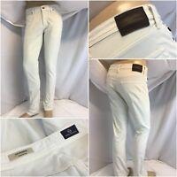 Zara Man Pantalones 29x31 Azul Algodón Lycra Peg Leg