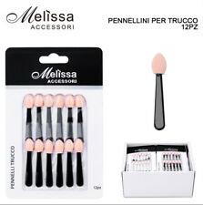 12 PZ PENNELLINI PER OMBRETTO TRUCCO MAKE UP APPLICATORE PROFESSIONALE