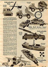1960 ADVERT Eldon Nylint Toy Trucks Cement Mixer Hubley Structo Road Grader