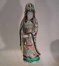 Antique Japanese Kutani Figure. Moriage Kutani Fig; Kwan Yin. Early 20th C (958)
