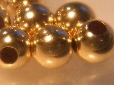 10x de 9 quilates de oro amarillo 5mm Llano Redondo 2 agujero granos huecos Collar Pulsera.375