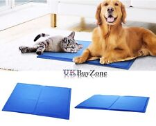 Large Pet Dog Cat Cool Mat Self Cooling Gel Pad Heat Relief Non-Toxic 40 x 50 cm
