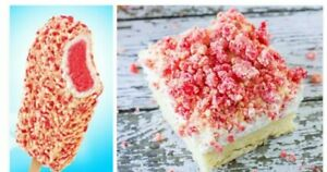 ECLAIR short cake crunch Ice Cream cake Topping STRAWBERRY crunchies 8 oz