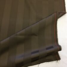 "Cardamon Brown Stripe ""Brodie"" 100% Lambswool Fabric. Made by Hield for Romo"