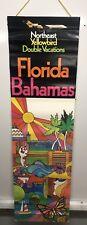 Original Vintage Northeast Airline travel poster Florida Bahamas Yellow bird
