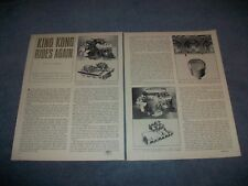 "1964 Chrysler 426 Hemi Engine Vintage Info Article ""King Kong Rides Again"""
