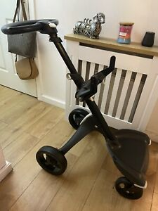 Stokke Xplory V4 Limited Edition True Black / All Black Chassis & Wheels. USED.