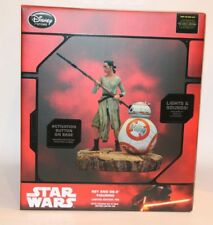 DISNEY STORE EXCLUSIVE REY AND BB-8 FIGURINE STATUE LIMITED EDITION 700 NEW!!