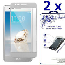 [2 Pack] For LG Aristo Tempered Glass Screen Protector Full Cover -Silvery