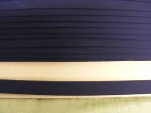 Bias Binding Navy Poly Cotton 12mm  x 19 mts 1 break