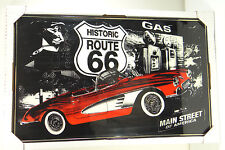 HISTORIC ROUTE 66 ~ ACRYLIC FRAMED SIGN~ 32 x 20 ~Garage, Basement, Man Cave~NEW