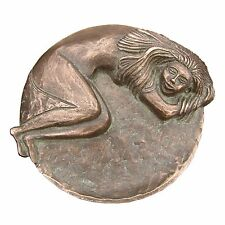 Bronzeplastik Figur Skulptur Schlafende 15 cm sculpture  sleeping woman