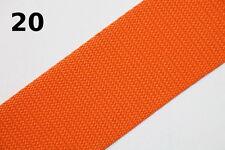 1 Meter Taschengurt - Gurtband aus Polypropylen - 50 mm - orange