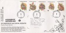 (06837) CLEARANCE GB Sheffield Scouts FDC Wild Animals 22 Nov 1985 FAIR/GOOD