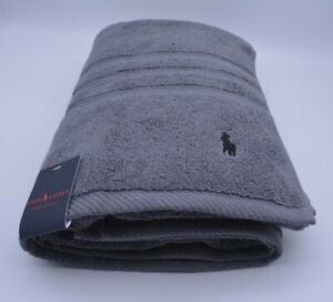 Ralph Lauren Bath Towel In Grey Cotton New With Tags RRP £45