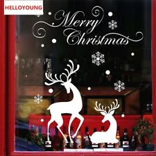 Christmas White Snow Reindeer Wandtattoos Home Decoration Waterproof Wallpapers