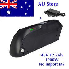 48V 12.5AH 1000W Black TIGER SHARK Li-oin Battery fr Electric Bicycles E-Bike