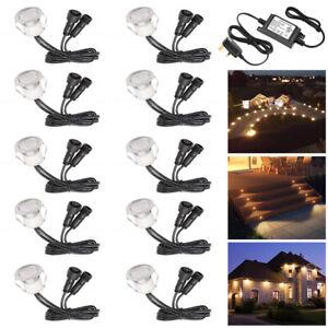 Set of 10 x 30mm Recessed Warm White LED Decking Lights/Plinth & Bathroom Lights