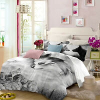 Grey Wolf Doona/Duvet Quilt Cover Set Queen/King/Double/Single Size Animal Bed