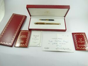Cartier Panther  Gold Plated Fountain Pen Panthere de Cartier