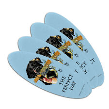 The Perfect Day Lab Dog Crab Fishing Oval Nail File Emery Board 4 Pack