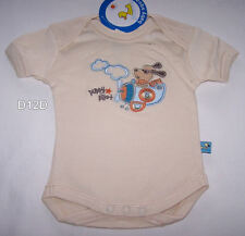 Baby Square Puppy Pilot Boys Embroidered Romper Size 000 New