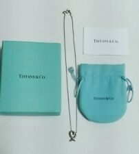 Tiffany& Co.Necklace Loving Heart 925 Stering Silver w/Inner Bag & Box Authentic